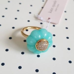 kate spade blue confection ring